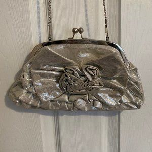 Free with $30 Purchase! Aldo Silver Rosette Clutch